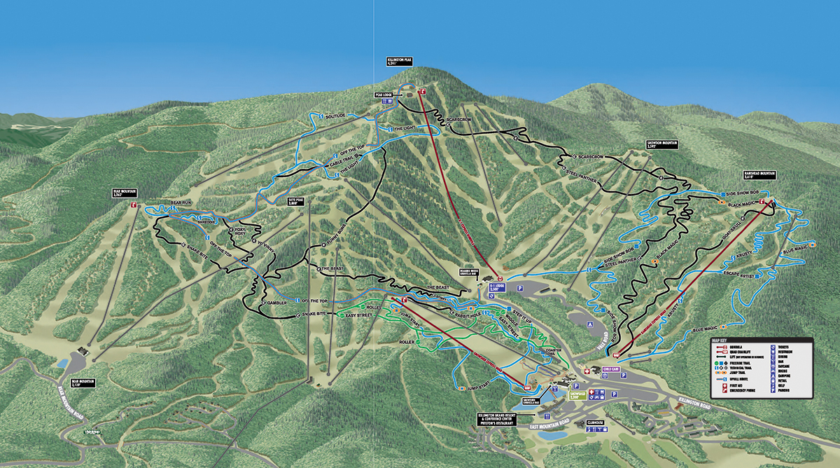 Killington Mountain Bike Park Trail Map - View All Available ... on