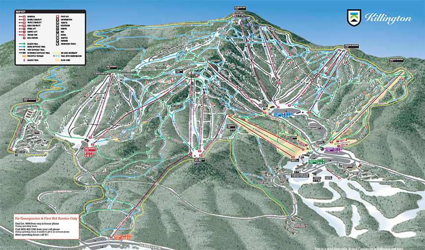 killington trail map view all available mountain trails. Black Bedroom Furniture Sets. Home Design Ideas
