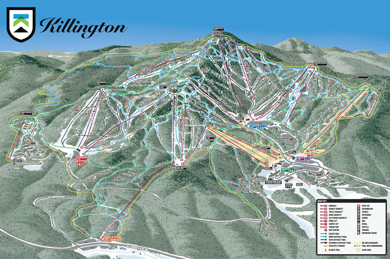 Killington Trail Map View All Available Mountain Trails Ski Trails - Eastern-us-ski-resorts-map